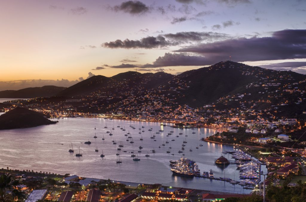 Charlotte Amalie Harbor at Dusk