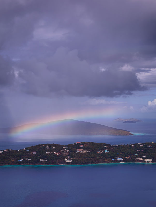 Rainbow over the island